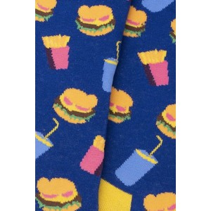Burger and French Fries Bight Socks