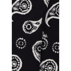 Black Paisley Bright Socks
