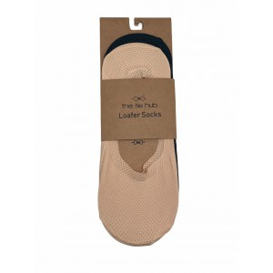 PACK OF 2 BREATHABLE LOAFER SOCKS - SILICON LINING