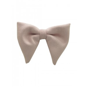 Dull Pink Suede Butterfly Bowtie