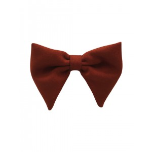 Brown Suede Butterfly Bowtie