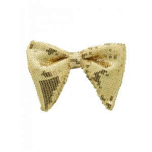 Disco Butterfly Bow Tie - Gold