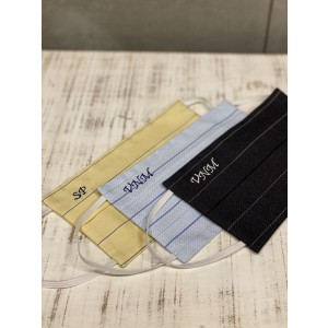 Stripe - Customise your Face Mask with initial