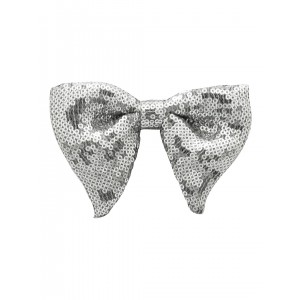 Disco Butterfly Bow Tie - Silver