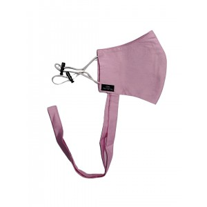 Pink Solid 100% Premium Cotton Reusable Face Mask with Band