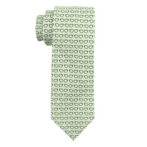 Spectacle Green Microfiber Necktie