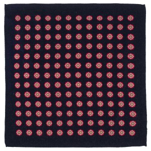 Dotted Hitch Blue Wool Pocket Square For Men By The Tie Hub