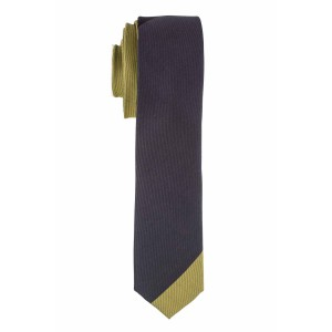 Spare Stripe Green and Black Microfiber Necktie