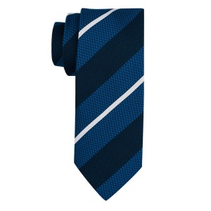 Union Blue Stripe Microfiber Necktie