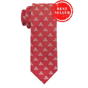 Bicycle Red Microfiber Necktie