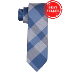 Anthem Plaid Blue Necktie