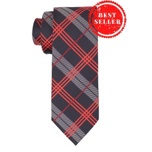 Delisa Plaid Blue And Red Necktie