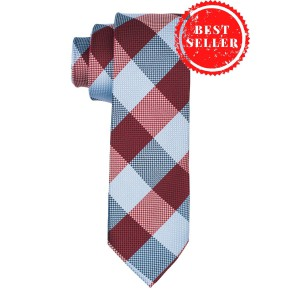 Anthem Plaid Maroon And Blue Necktie
