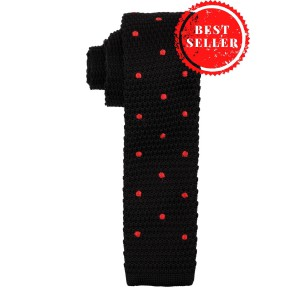 Sport Dots Black polka Knitted Necktie