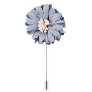 Daisy Grey Flower Lapel Pin
