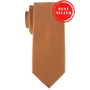 Striker Solid Gold Microfiber Necktie