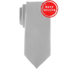Striker Solid Grey Microfiber Necktie