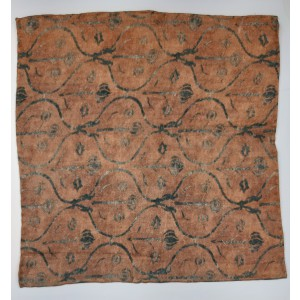 Lotus Print Beige 100% Pashmina Pocket Square