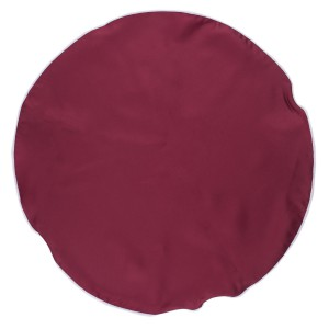 Freehand Solid Maroon Round Pocket Circle For Men