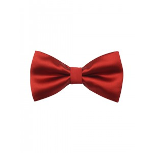 Red Solid Microfiber Bow Tie