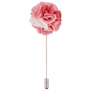Lapel Pin - Marigold Pink Flower