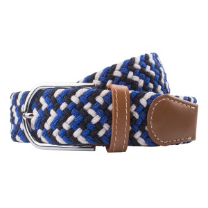 Wave - Blue/Black/White Elasticated Woven Belt