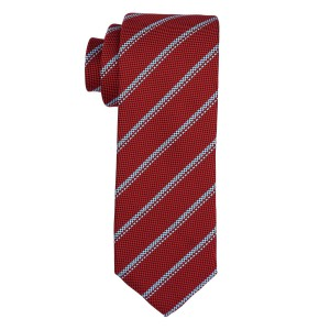 Tropical Red Striped Microfiber Necktie