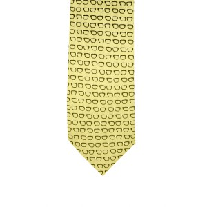 Spectacle Yellow Microfiber Necktie