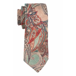 Paisly Cream 100% Pashmina Necktie by The Tie Hub