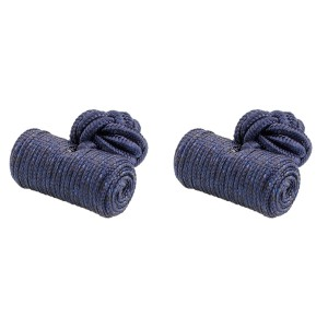 Dark Blue Silk Pipe Cufflink
