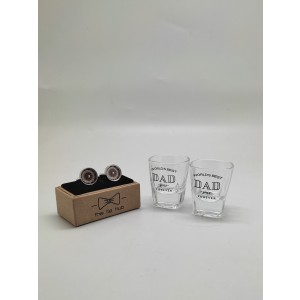 Shot Glasses and Functional Miniature Roulette Gambling Cufflinks