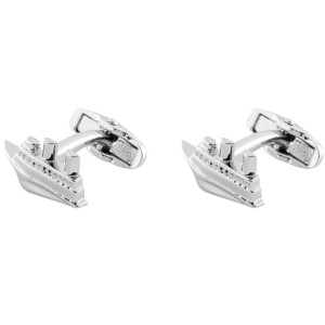 Ship Brass Cufflink