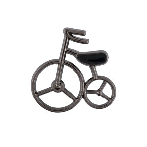 Mini Old Bicycle Gunmetal Metal Lapel Pin