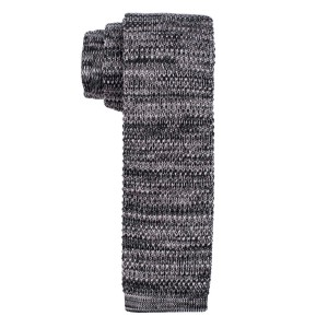 Constellation Solid Grey Knitted Necktie by The Tie Hub