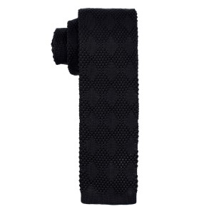 Revington Diamond Black Knitted Necktie