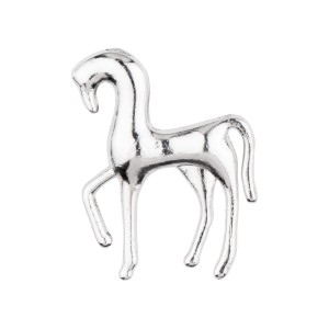 Silver Horse Metal Lapel Pin