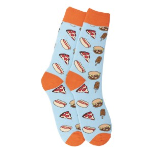 Junk food Aqua and Orange Bright Sock