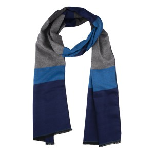 Mighty Stripe Blue Reversible Scarf
