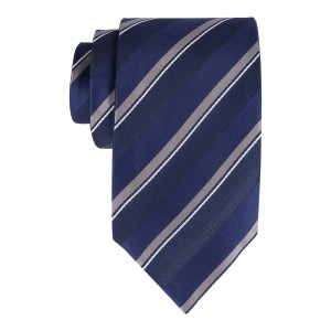 Blue Stripes Reversible 100% Silk Necktie