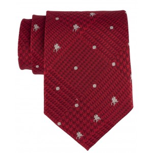 Red Derby Horse with Jockey 100% Silk Necktie