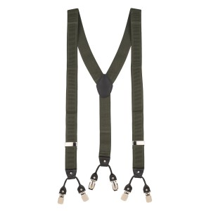 Green Stripe Y Back Suspender