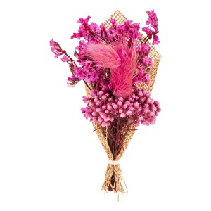 Babys Breath Magenta Wedding Boutonniere