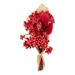 Babys Breath Red Wedding Boutonniere
