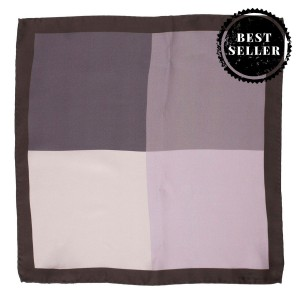 4 in 1 Black and Grey 100% Silk Pocket Square
