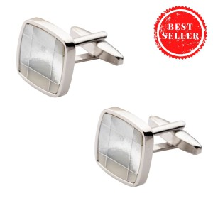MOP Square With Checks Cufflink
