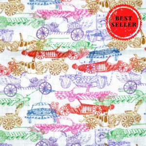Vintage Car Print 100% pure Linen Pocket Square