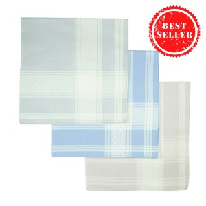100% cotton handkerchiefs for Men