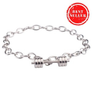 Barbell With Chain Wrist Band