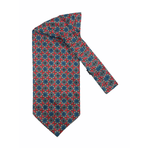 Red Floral Silk Cravat By The Tie Hub