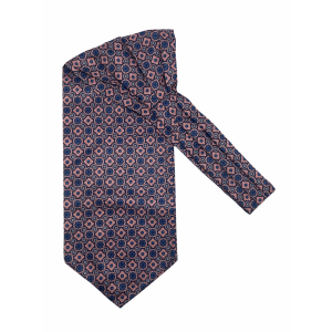 Peach And Blue Floral Silk Cravat By The Tie Hub